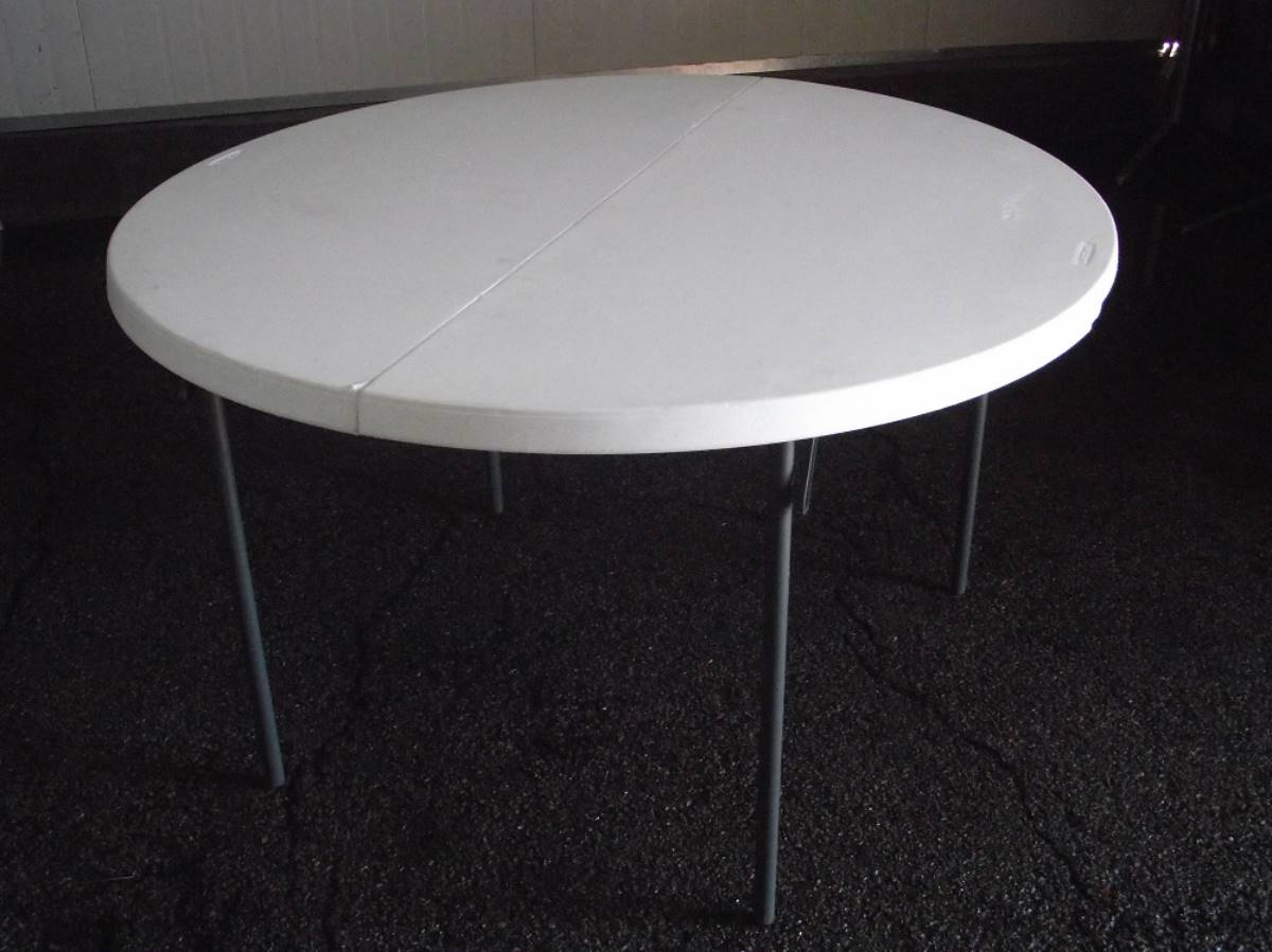 Small Round Table White Plastic