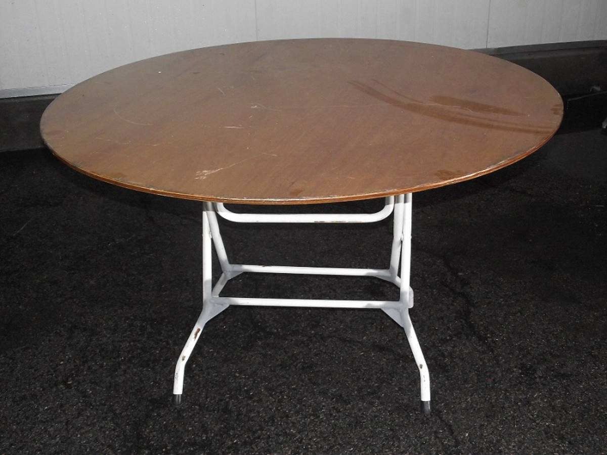 Small Round Table Wooden Top
