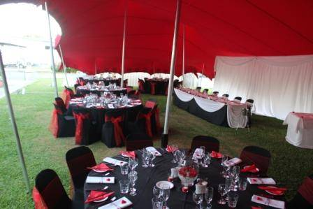 Black Red Themed Wedding
